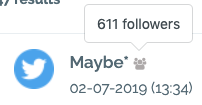 number of followers